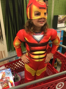 Sometimes, you just have to dress as Iron Man to get through your Target shopping experience
