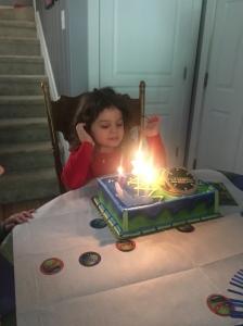 My 4-year-old ninja